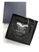 Crystal Heart Memorial In Loving Memory Christmas Ornament boxed