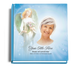 angelic funeral guest book with photo