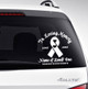Ribbon In Memory Car Decals back view