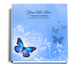 butterfly funeral guest book