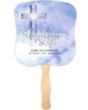 Adoration Cardstock Memorial Church Fans With Wooden Handle front no photo