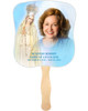 Blessed Cardstock Memorial Church Fans With Wooden Handle front photo