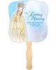 Blessed Cardstock Memorial Church Fans With Wooden Handle no photo