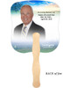 Destiny Cardstock Memorial Church Fans With Wooden Handle back photo