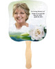 Divine Cardstock Memorial Church Fans With Wooden Handle front photo