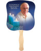 Enlighten Cardstock Memorial Fan With Wooden Handle (Pack of 10)