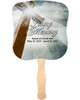 Eternal Cardstock Memorial Church Fans With Wooden Handle front