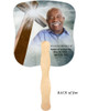 Eternal Cardstock Memorial Church Fans With Wooden Handle back photo