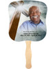 Eternal Cardstock Memorial Church Fans With Wooden Handle front photo