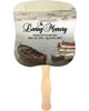 Fishing Cardstock Memorial Church Fans With Wooden Handle front