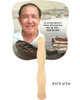 Fishing Cardstock Memorial Church Fans With Wooden Handle back photo