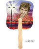 Glorify Cardstock Memorial Church Fans With Wooden Handle photo