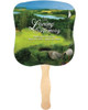 Golfer Cardstock Memorial Church Fans With Wooden Handle front