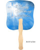 Heaven Cardstock Memorial Church Fans With Wooden Handle back