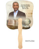 History Cardstock Memorial Church Fans With Wooden Handle back photo