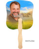 Horizon Cardstock Memorial Church Fans With Wooden Handle photo back