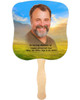 Horizon Cardstock Memorial Church Fans With Wooden Handle photo front