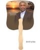 Kenya Cardstock Memorial Church Fans With Wooden Handle back photo