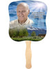 Outdoor Cardstock Memorial Church Fans With Wooden Handle front photo