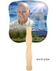 Outdoor Cardstock Memorial Church Fans With Wooden Handle back photo
