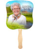 Tranquil Cardstock Memorial Church Fans With Wooden Handle front photo