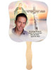 Vision Cardstock Memorial Church Fans With Wooden Handle front photo
