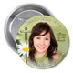 Daisy In Loving Memory Memorial Button Pins