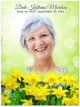 Daffodils In Loving Memory Memorial Portrait Poster