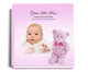 nurserygirl baby funeral guest book with photo