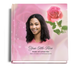 petals funeral guest book with photo