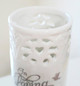 In Loving Memory White Ceramic Flower Memorial Vase