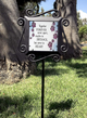 Together Forever Pet Inspirational Large Glass Garden Stake sample view