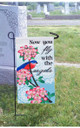 With Us Everyday Appliqué Memorial Garden Flag