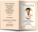 peach posy funeral program template