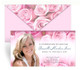 Pink Delight Envelope Fold Funeral Program Design & Print (Pack of 25)