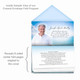 Ocean Breeze Envelope Fold Funeral Program Design & Print (Pack of 25)