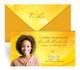 Golden Glow Envelope Fold Funeral Program Design & Print (Pack of 25)