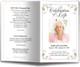 Floret Funeral Program Template