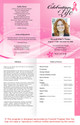 Awareness 4-Sided Graduated Funeral Program Template full view