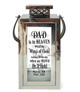 Wings of Gold Memorial Silver Lantern With Leather Handle