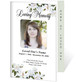 Gardenia 4-Sided Graduated Funeral Program Template
