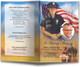 Policeman funeral program template design
