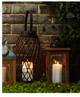 Solid Wood Outdoor Memorial Lantern With Wax Candle