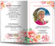 Aroma Funeral Program Template front view