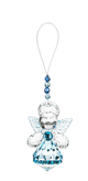 Guardian Angel of Remembrance Sparkling Acrylic Ornament  blue