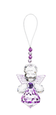 Guardian Angel of Remembrance Sparkling Acrylic Ornament  lavender