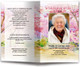 Cherry Blossom Watercolor Funeral Program Template