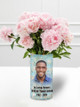 In Loving Memory Memorial Photo Flower Vase sample display