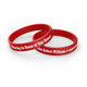Personalized In Loving Memory Silicone Bracelet - Honor Your Memory red