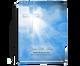 Heaven Perfect Bind Memorial Funeral Guest Book 8x10